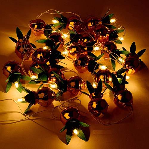Kerwa Golden Plastic Kalash String Light for Diwali Festival, Navratri, Home Decoration Gift - Set of 1
