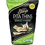 Stacy's Garlic & Herb Flavored Pita Thins, 6.7 Ounce (Pack of 8)