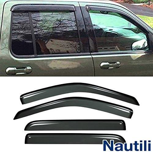 Laprive Auto 4pc Sun/Rain Guard Window Deflector for 02-10 Explorer/Mountaineer 03-05 Aviator 4-Door Vent Shade Window Visors