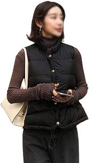 LUKEEXIN Women's Winter Short Sleeveless Vest Coat Collar Down Jacket