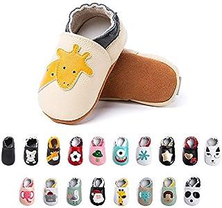 Primeros Pasos Bebe Niña Niños Zapatos Zapatillas de Estar por Casa Pantuflas Calzado Botitas y Patucos Infantiles Piel Sintético Casual Antideslizante-1 BGCJL 0-6 Meses