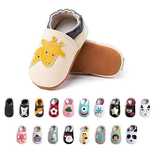 Primeros Pasos Bebe Niña Niños Zapatos Zapatillas de Estar por Casa Pantuflas Calzado Botitas y Patucos Infantiles Piel Sintético Casual Antideslizante-1 BGCJL 12-18 Meses