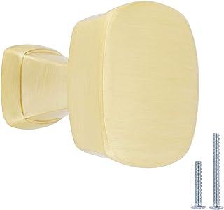 AmazonBasics - Pomo de armario, 3.2 cm de diámetro, latón cepillado, AB500-BB-25