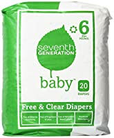Seventh Generation, Baby, Free & Clear Diapers, Size 6, 35 Plus Pounds, 20 Diapers by Seventh Generation