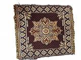 AV Pooja Aasan/Prayer Mat/Dining Chair Cover 100% Cotton 2 Ft x 2 Ft [Pack of 2] - Multi/Yellow