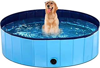 G TASTE Foldable Dog Pool, Portable Kiddie Pool for Kids, Swimming Pools for Small to Large Dogs, Perfect Backyard/Outside...