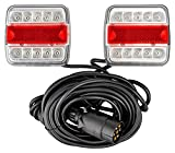 AUTOLIGHT 24 I Juego de luces traseras LED para remolques de automóviles, 7,5 m