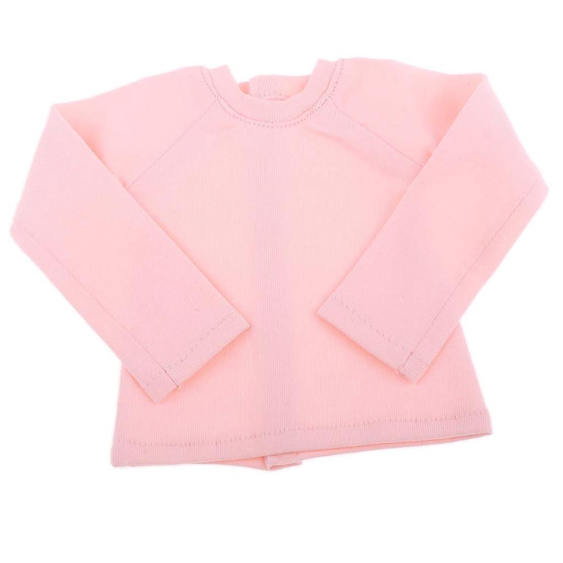 スクワイア貢献するネストTシャツ長袖 1/4 BJD 人形のシャツ ドールトップ服 ドールメイキング アクセサリー ピンク