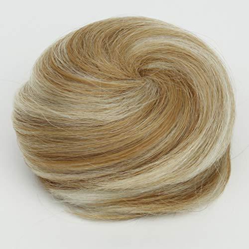 PRETTYSHOP 100% pelo real cabello humano Moño, Postizo, Trenza, Moño de estilo Hepburn,...
