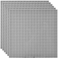 Lekebaby Lot de 6 Plaque de Base Compatible avec Les Plus Grandes Marques, 25.5x25.5cm, Vert/Bleu/Gris/Sable/Multicolore