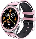 Smart Watch 1 3 pulgadas de pantalla táctil de alta definición preciso cuenta pasos impermeable Multi-Sports Recordatorio de llamada pulsera deportiva para Android e iOS Moda/rosa