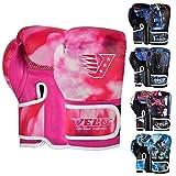 Velo Guantes de Boxeo para niños Mitones para niños 6 oz, 4 oz Bolsa de Entrenamiento Sparring Gel Punch Glove MMA Punchbag Pad Punching (4 oz, Rosa)
