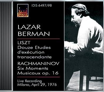 Berman, Lazar: Lazar Berman Plays Liszt and Rachmaninov (29 April 1976)