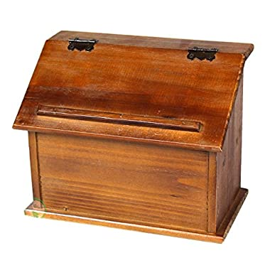 Vintiquewise(TM Old Style Wooden Podium Recipe Box
