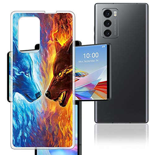 HHUAN Case for LG Wing 5G (6.8 inches), Semi-Transparent Hard PC Bumper Phone Case [Ultra-Thin and Lightweight] [Prevent Yellowing] Back Cover Protective Shell for LG Wing 5G - WMA34