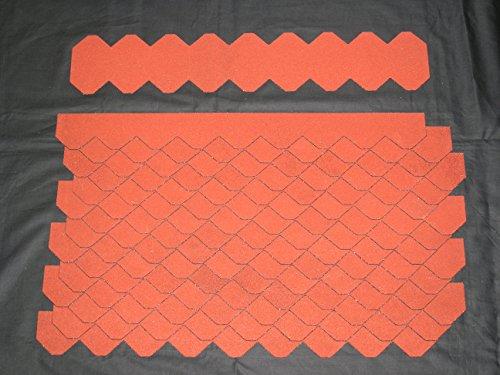 Manufaktur Martinshof Mini Dachschindeln Schiefer (55 mm) - Set - Rot 23.426 Dachschindel