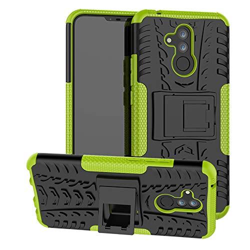 Labanema Huawei Mate 20 Lite Custodia, Kickstand Dual Layer Ibrida Rigida Morbido Armatura Resistente agli Urti con Supporto e asportabile di Protezione per Huawei Mate 20 Lite-Verde