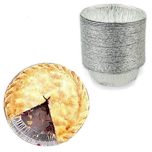 Kuchenform, rund, 10,2 cm, aus Folie, gefrierschrank- und ofenfest, Einweg-Aluminium, zum Backen, Kochen, Aufbewahren und Rehessen, 50 Stück