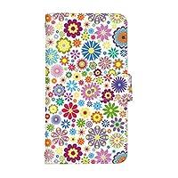 スマ通 Galaxy Feel SC-04J 国内生産 カード スマホケース 手帳型 SAMSUNG サムスン ギャラクシー フィール 【1-ホワイト】 花の花火 q0004-i0380
