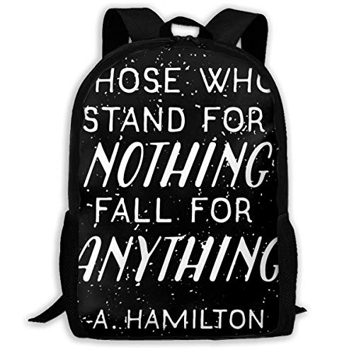 XCNGG Stand Or Fall Quote School Bag Teenager Casual Sports Backpack Men Women Student Travel Hiking Laptop Backpack