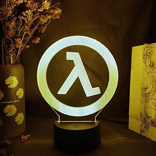 3D ilusión luz LED noche juego media vida Alyx Logo diseño encantador sala de juegos decoración de escritorio sensor s habitación regalo