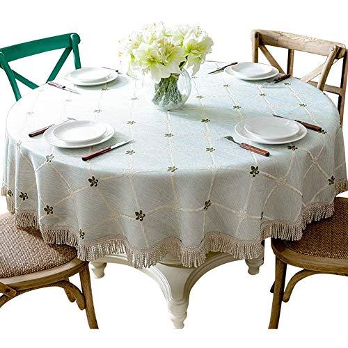 Ronde Fabric Katoen En Linnen Round Table Great Dust Tafelkleed Square Voor Partijen Uit Eettafel Binnen En Buiten Onderdelen, Dagelijks Gebruik