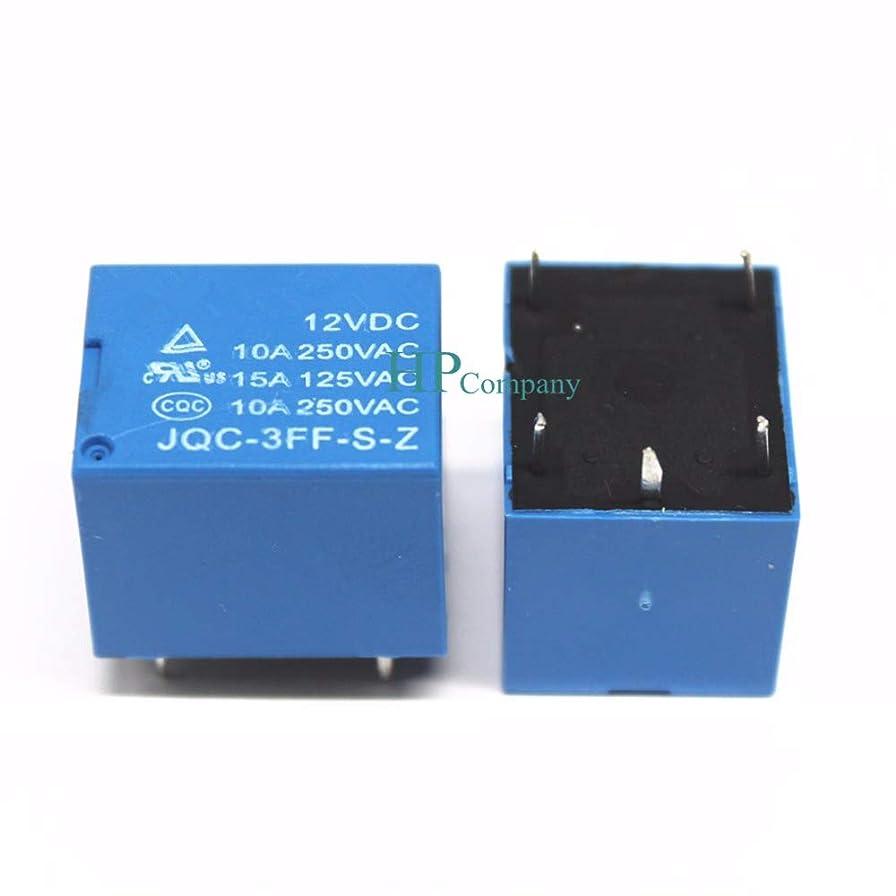 怠シェアなかなかWillBest 12V Relay 5 feet JQC-3FF-S-Z JQC-3FF-12VDC JQC-3FF 10A 250VAC T73