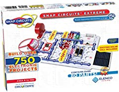 Build over 750 experiments with 80 parts Experiments include: sound activated switch, Lie detector, adjustable light controller, Am radio, rechargeable battery and many more! Parts included: Photo resistor, power amplifier, variable capacitor, Analog...