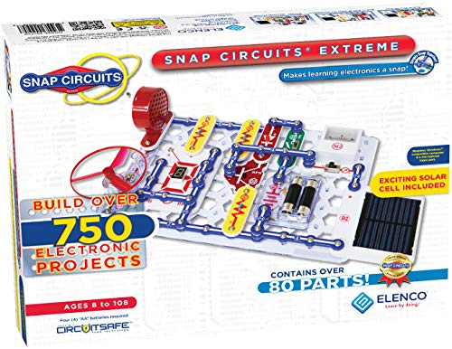 Elenco Snap Circuits Extreme SC-750 Electronics Exploration Kit | Over 750 Projects | Full Color Project Manual | 80+ Snap Circuits Parts | STEM Educational Toy For Kids 8+