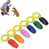 DealMux Klicker Dog Clicker Cani Clicker per addestramento del cane Addestramento del gatto Clicker Addestramento del cane Clicker Addestratore del comportamento del cane Aiuto per l'addestramento de