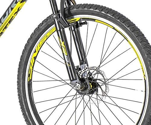 breluxx 26 Zoll Mountainbike Hardtail Venera Sport Vortex Yellow 18 Gang Shimano, Scheibenbremse Frontfederung MTB, inkl. Schutzbleche + Reflektoren, Modell 2019 - 6