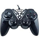 L&WB Controlador De Juegos Gaming Joystick USB Gamepad para PC Gamepads De Vibración para Portátiles para Windows 7 Y 10,Black