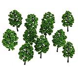 Unechte Blumen 10 Stücke Kunststoff Modell Baum Gebäude Eisenbahn Layout Garten Landschaft Landschaft Miniatur Liefert Baukasten Spielzeug für Haus Garten Party Blumenschmuck -