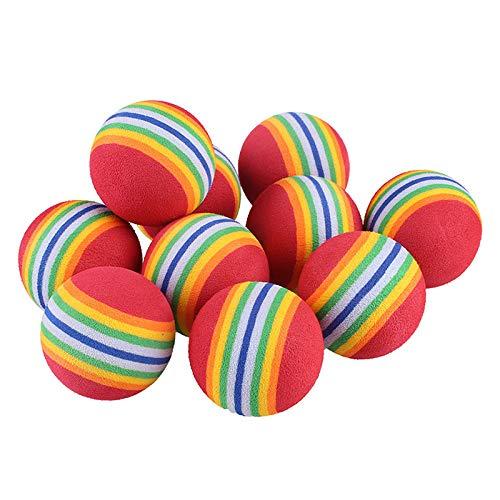CHRISTY HARRELL Golfbälle aus Schaumstoff, Regenbogenfarben, für drinnen und draußen, 10 Stück