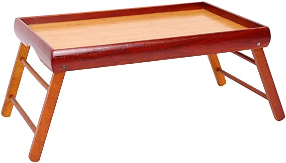 Bamboo Breakfast Tray with Handles Serving Platters Tray Great for Dinners Party Tea Bar Table Breakfast Snack