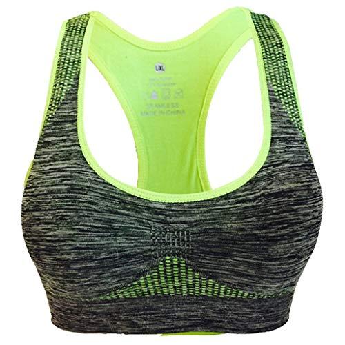Women Racerback Sports Bras - High Impact Workout Gym Activewear Bra (S,Green)