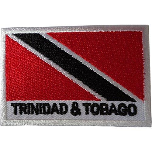 Trinidad & Tobago Flagge Patch Eisen nähen auf Kleidung Karibik bestickt Badge