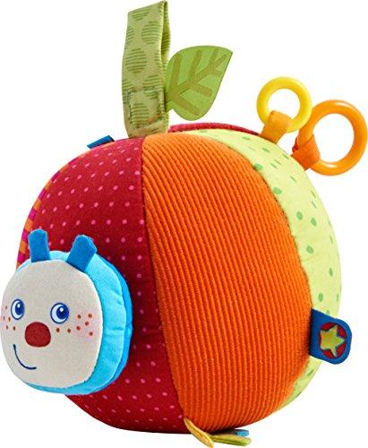 Haba 303219 – stoffen bal rups Mina | babyspeelgoed van stof met geribbelde motor en vele speeleffecten | vanaf 6 maanden