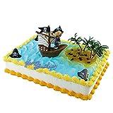 Piraten-Junge im Segelschiff Figur ca. 10x9 cm