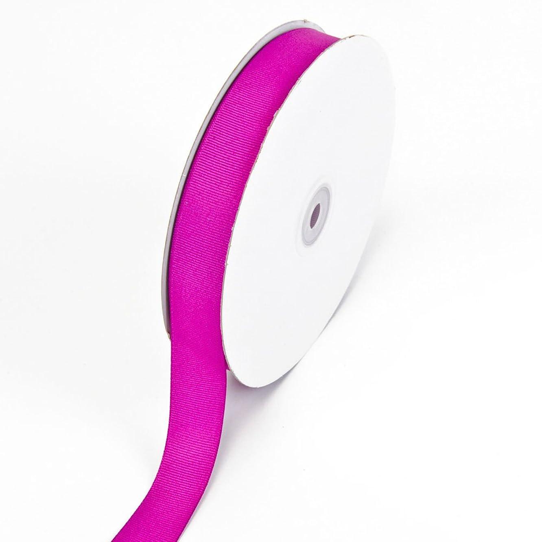 Creative Ideas 7/8-Inch Solid Grosgrain Ribbon, 50-Yard, Fuchsia
