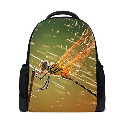LIANCHENYI Brave Animal Libelle Sprays Flüssigkeiten Custom Casual Rucksack Schultasche Reiserucksack Tagesrucksack