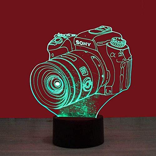 Optische Täuschung der Sichtlampe-3D führte Nachtlicht 7 ändernde Farben Noten-Nachtlicht Ein perfektes Weihnachts- und Neujahrsgeschenk für Mädchen und Jungen-Strichmännchen-Kamera