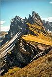 Poster 20 x 30 cm: Seceda Südtirol von Sören Bartosch -