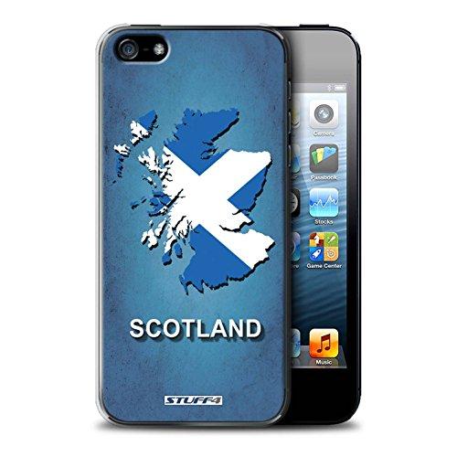 Custodia/Cover Rigide/Prottetiva STUFF4 stampata con il disegno Nazioni bandiera per Apple iPhone 5/5S - Scozia/scozzese