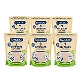 Smileat - Bolsas de Papilla Ecológica 7 Cereales, Ingredientes Naturales - A Partir de los 6 Meses - Pack de 6x200g - 1200g