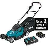 Makita XML05PT (36V) Lithium-Ion Cordless 18V X2 LXT 17' Residential Lawn Mower Kit (5.0Ah), Teal