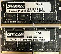 DATARAM 64GB メモリー RAM アップグレード (2 x 32GB) DDR4 2666Mhz PC4-21300 CL19 SO DIMM 2019 iMac 27インチ 5K に対応