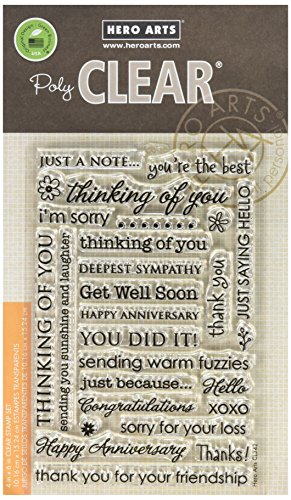Hero Arts CL342 Clear Stamps, Everyday Sayings