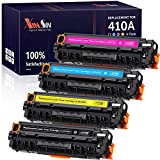 XINSIN Compatible Toner Cartridges Replacement for HP 410A CF410A 410X CF410X for Color Laserjet Pro MFP M477FDW M477FNW M477FDN M452DN M452NW M452DW M477 M452 M377DW Printer, 4-Pack