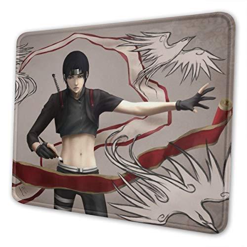 Naruto Sai - Alfombrilla de ratón para ordenador portátil, bordes cosidos para oficina, 10 x 12 pulgadas